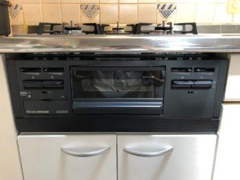 西東京市のお客様、ガスオーブンを撤去してキャビネットを設置した後の写真(正面から)